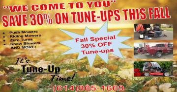 Save 30% on Fall Tune Ups